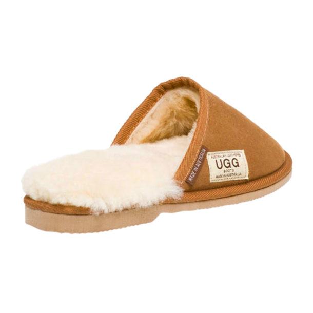 Australian Leather Sheepskin Ugg Scuffs-CHE-2