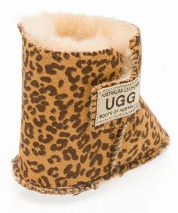 Baby Booties Leopard print Velcro