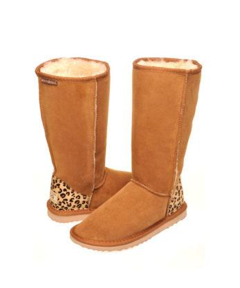 Long Cheetah print heel Ugg Boots Australian Made