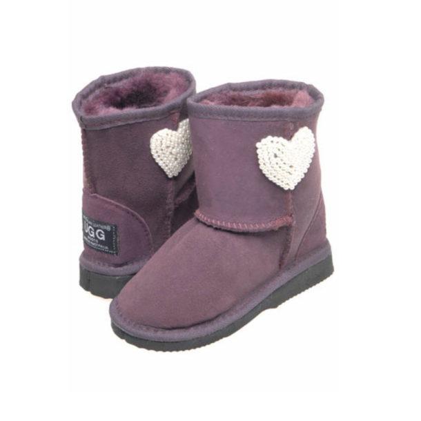 Mini Pearl Heart Ugg Boots