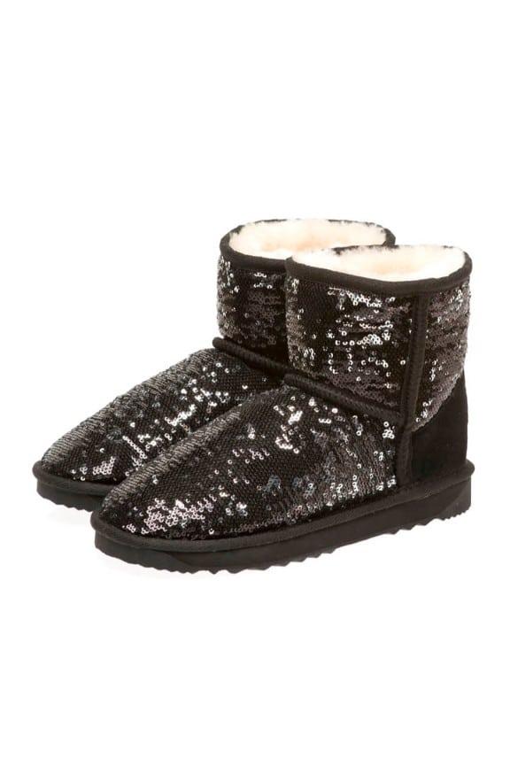 2 Tone Ultra Short Glitter Sparkle Ugg Boots