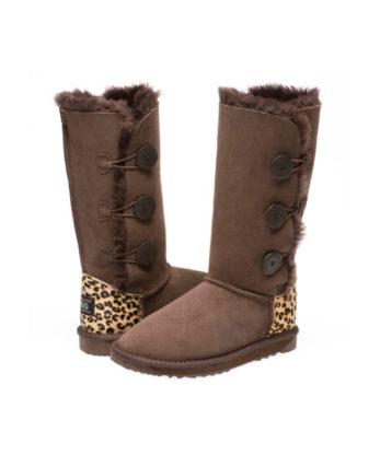3 Button Ugg Boots Cheetah print heel Ugg Boots fashion boots australian made