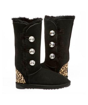 3 Button Ugg Boots Cheetah Print H