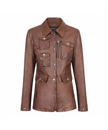 Aisha Ladies Leather Jacket Fashion Casual Leather Jacket sale