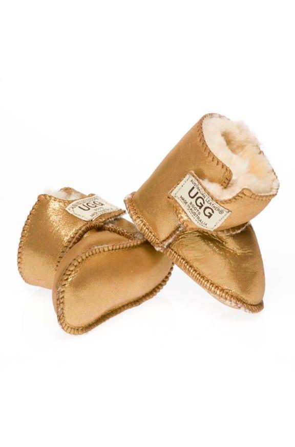 Baby Ugg Booties Shimmer Velcro