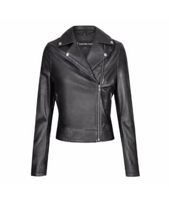 Brenda Ladies Leather Jacket ladies zipper fashion bike leather Jacket sale soft lamb skin