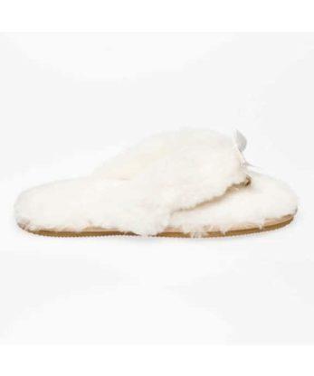 Sheepskin Flip Flops made with Swarovski Elements