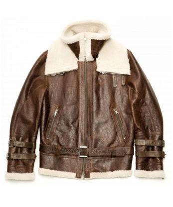 Charleston Mens WW2 Bomber Pilot Sheerling Jacket genuine Australian sheepkin anbd lambskin fur mens sizes XS, S, M, L, XL, XXL