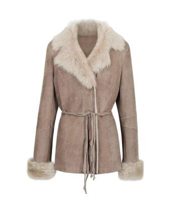 Collette Ladies Sheepskin Jacket lambskin suede fur ladies fur coat and jacket sale
