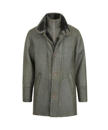 Frank Mens Sheepskin Fur Jacket double zip and button Coatsheerling genuine Australian sheepskin coat sale