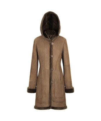 Iris Ladies Long Sheepkin Coat