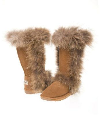 Tall Foxy Black Ugg Boots