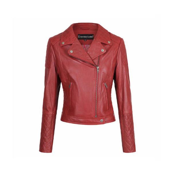 Sharon Leather Jacket Napa Lambkin Leather jacket available colours Black, Ruby, Red, Beige leather jacket sale