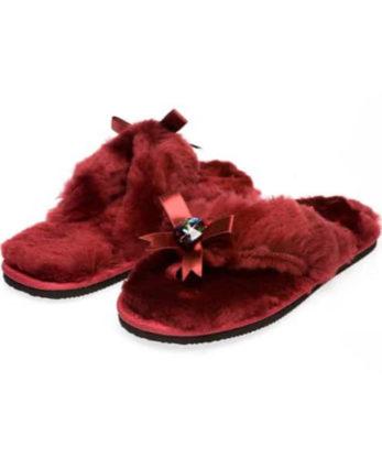 Sheepskin Flip Flops made with Meridan Blue Swarovski elements ugg boots