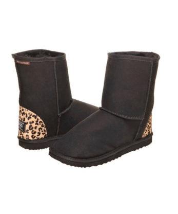 Short Cheetah print heel Ugg Boots