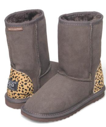Classic Short Ugg Boots leopard heel