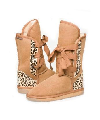 Short Roxy Nomad Ugg Boots Cheetah print heel
