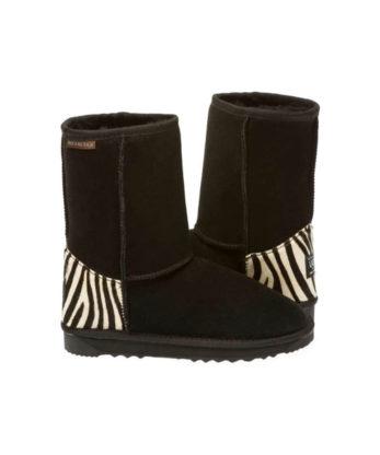 Short Zebra print heel Ugg Australian Made Boots