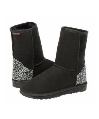 Swarovski Crystal Rock Heel Ugg Boots made with Jet and Cal Swarovski elements Australian Made Crystal heel fashion Ugg boots