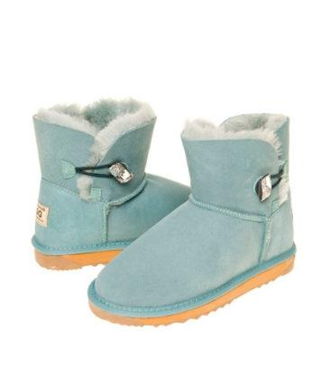 Ultra Short Single Button Ugg Boots made with Chessboard Swarovski elements Fashion Ugg Boots Australian made australian sheepskin boots
