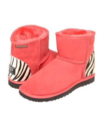 Ultra Short Zebra print heel Ugg Boots Australian Made australian sheepskins fashion boots