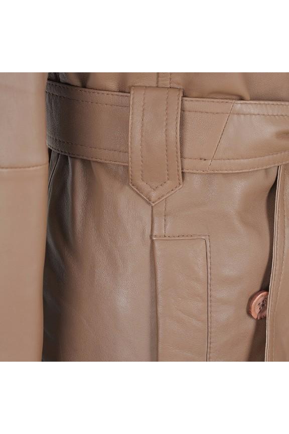 Georgia Ladies Leather Trench Coat