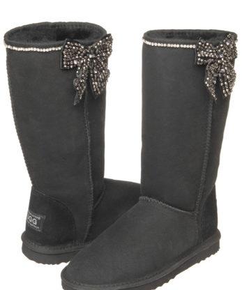 Tall Bow Diamond Ugg Boots