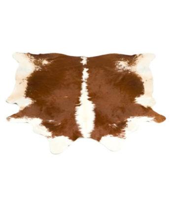 Hereford Cowhide Leather Floor Rug genuine Leather rug sale