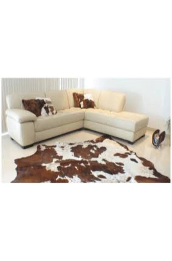 Hereford Cowhide Leather Floor Rug
