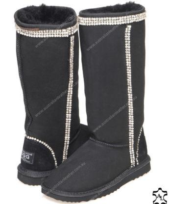 Tall Crystal Diamonds Ugg Boots