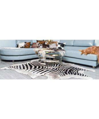 African Zebra print Cowhide Rug