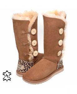 3-Button-Cheetah-Print-Heel-Australian-Made-UGG-Boots- 4