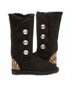 3-Button-Cheetah-Print-Heel-Swarovski-Element-Australian-Made-UGG-Boots- 5