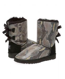 Snake-Print-Back-Bow-Australian-Made-UGG-Boots- 1